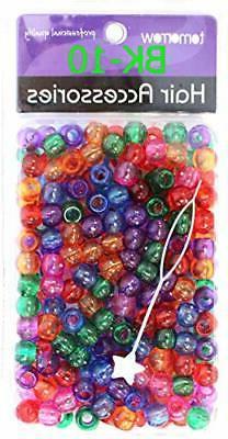 Tara Glitter Color 12 MM Plastic Beads For Braid Hair 200 Pi