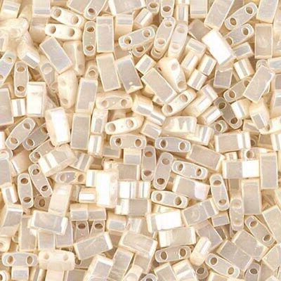 Miyuki Half Tila 2 Hole Rectangle Beads 5x2.3mm - Antiqued I