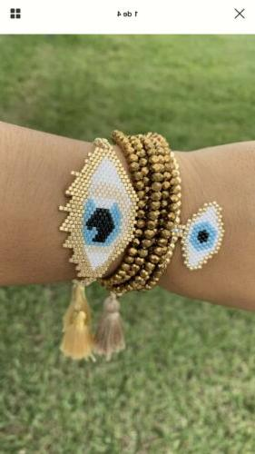 handmade evil eye miyuki seed beads bracelets