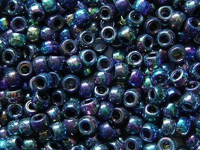 iridescent metallic 9x6mm pony beads 500pc beading