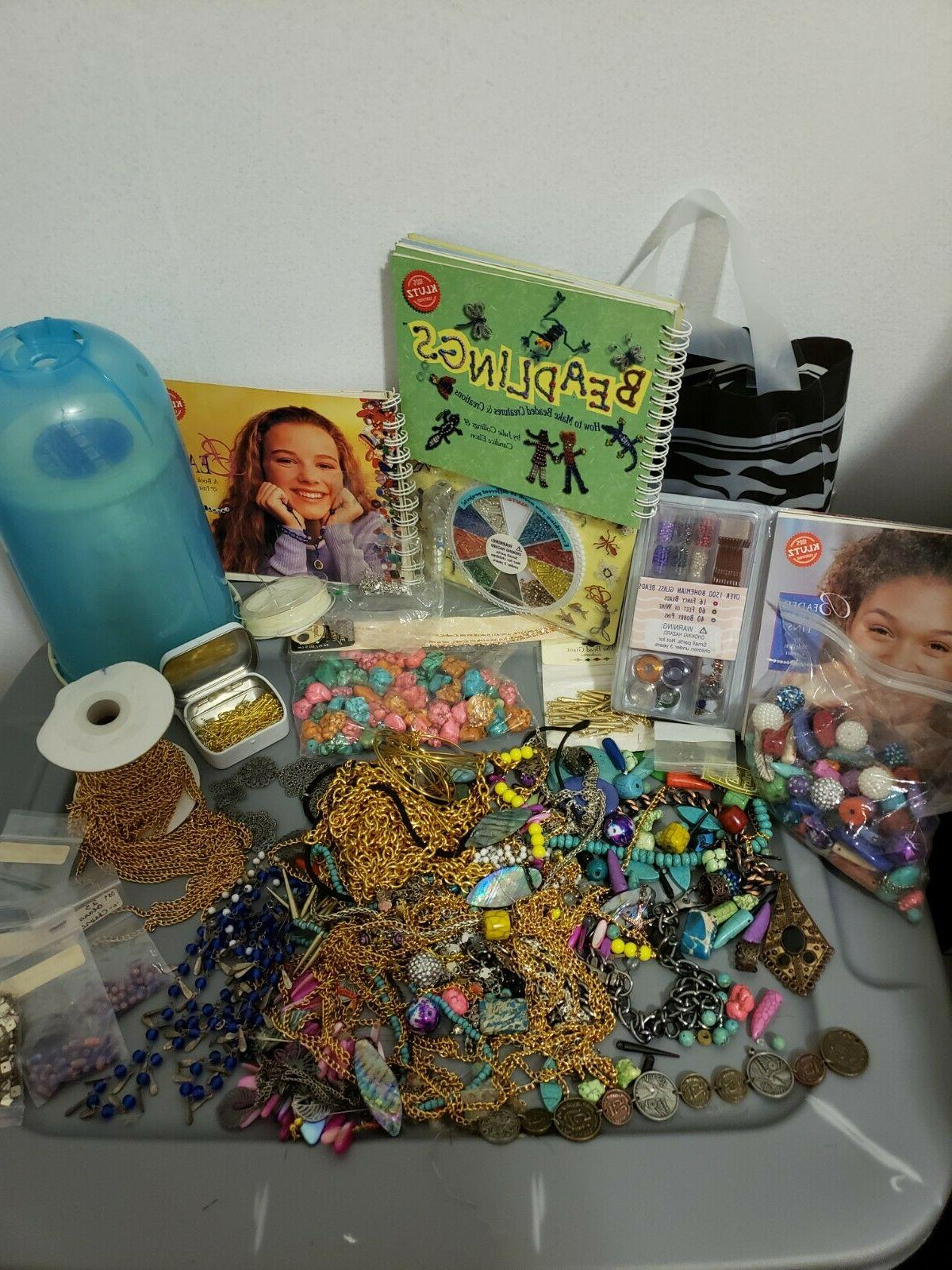 jewelry making bundle crystals stones beads charms