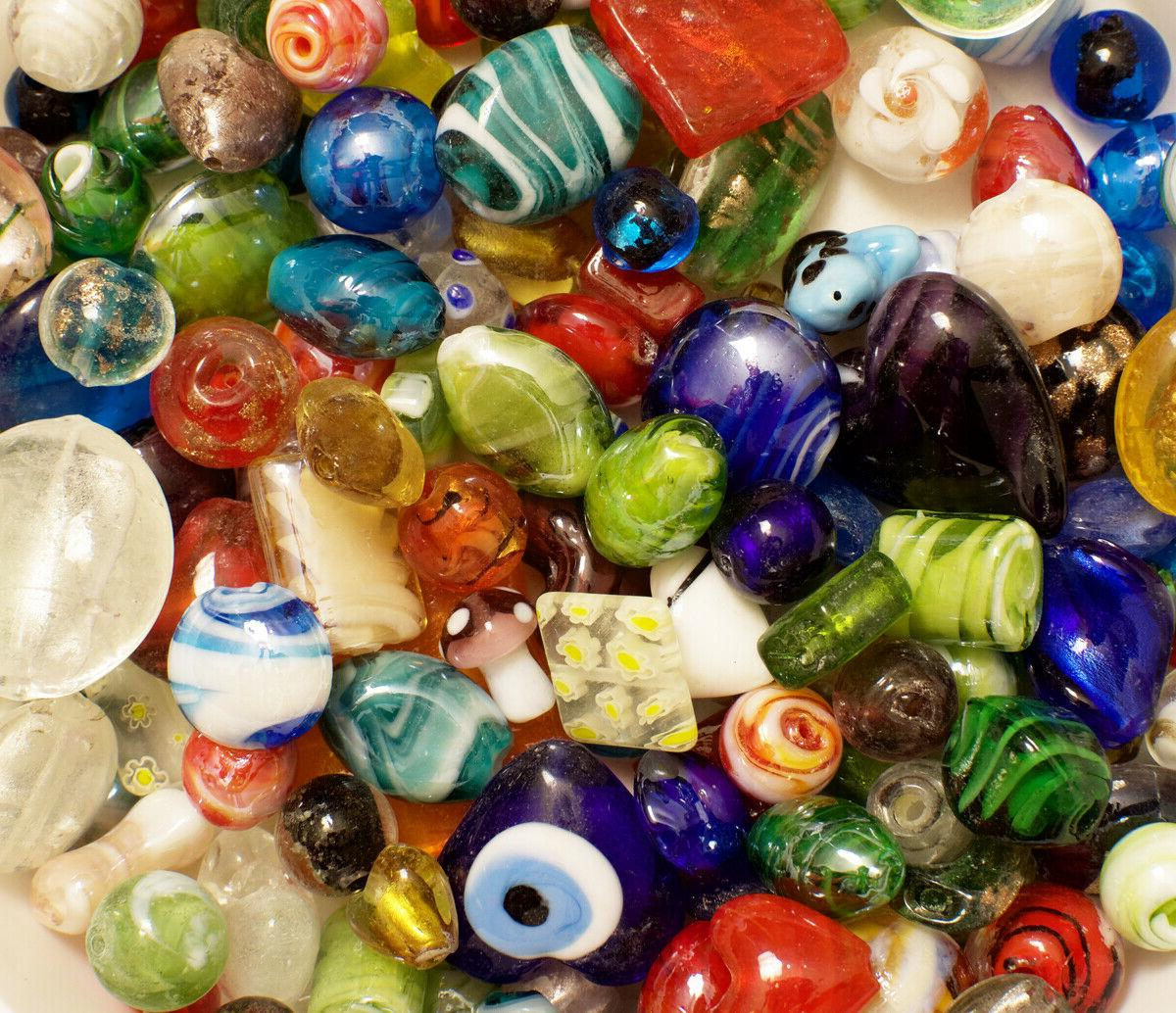 Lampwork Beads, 1 Bulk, &