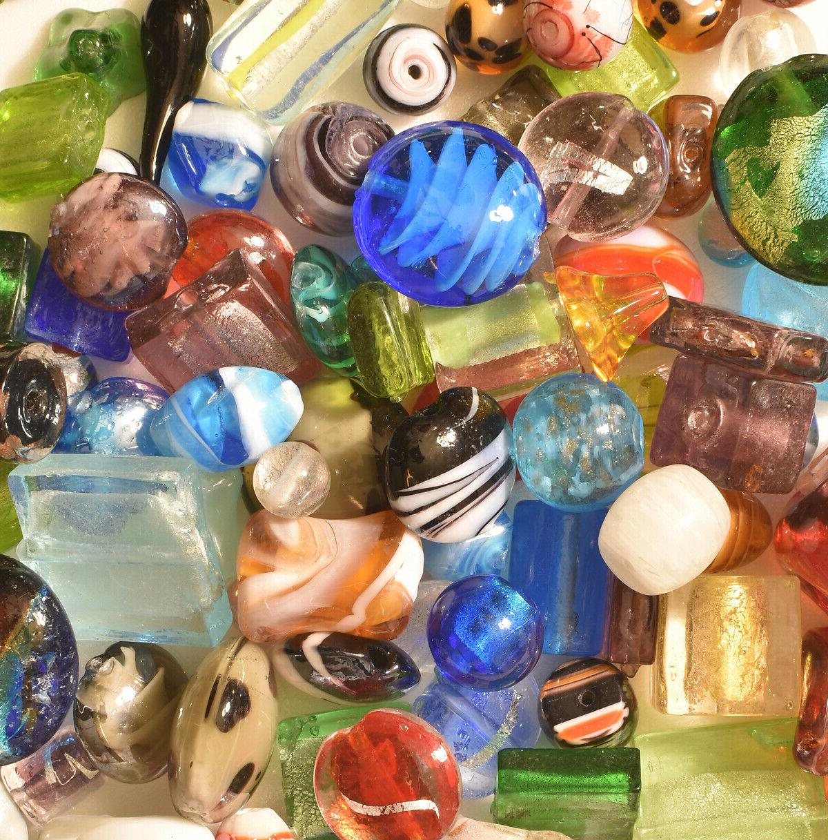 Lampwork Beads, LB Bulk, Mixed Style Colors, Handmade