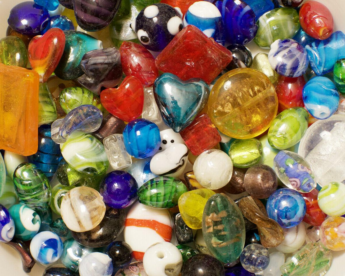 lampwork beads 1 lb bulk mixed style