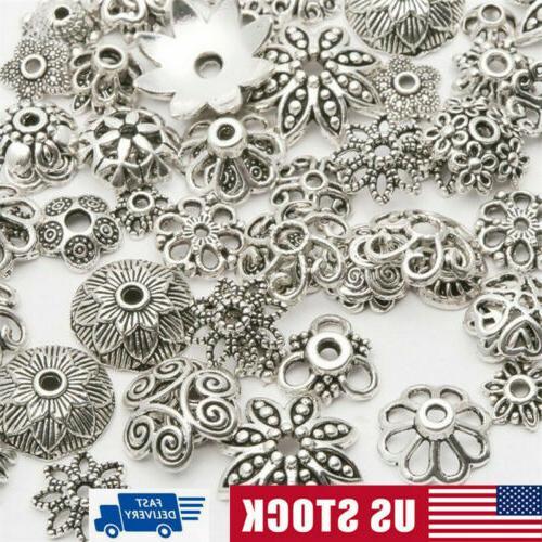 lot bulk mixed tibet silver beads spacer