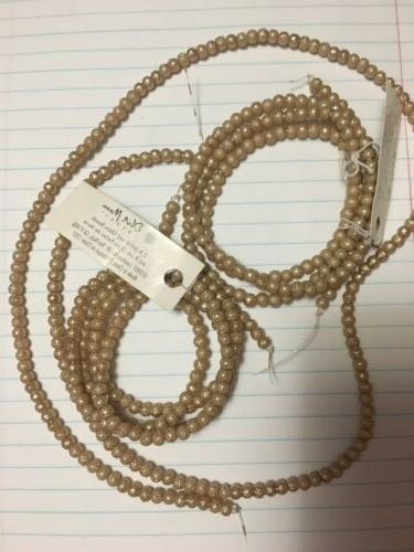 Lot 300 Metallic Round Ivory Necklace
