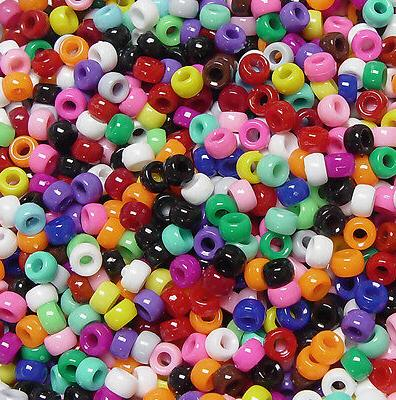 multi opaque mini barrel pony beads made