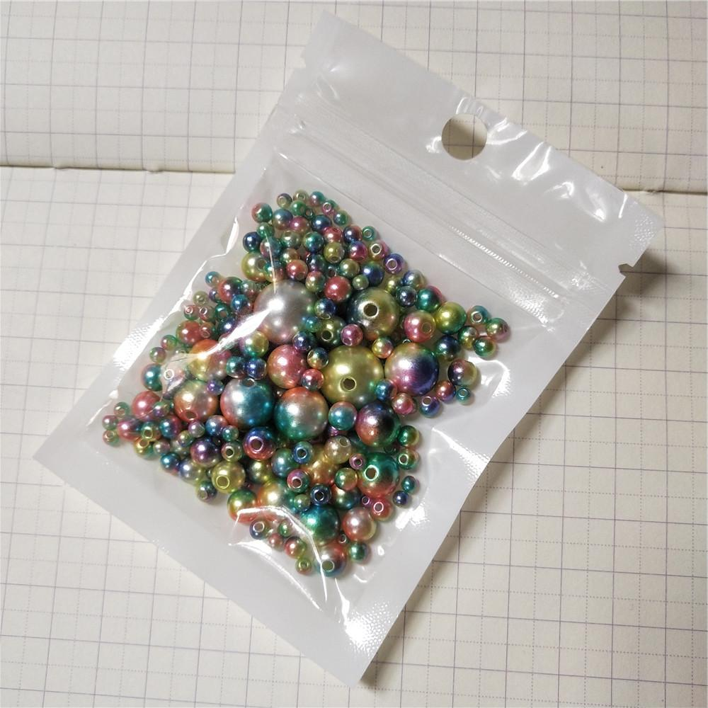 Multi Option 3/4/5/6/8/10/12mm Round Plastic ABS Pearl DIY for Jewelry Making Accessories