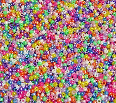 multi pearl mini barrel pony beads made