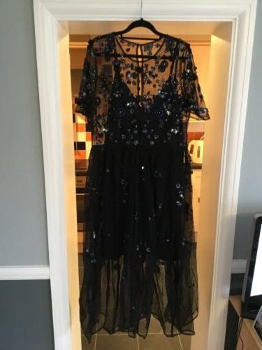 Net/Beaded Dress