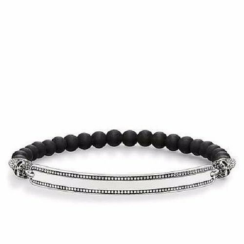 obsidian beads and ss skulls w black