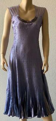Komarov Ombre Charmeuse & Chiffon Midi Dress- Size Medium