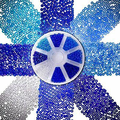 over 2000 czech blue sea glass seed