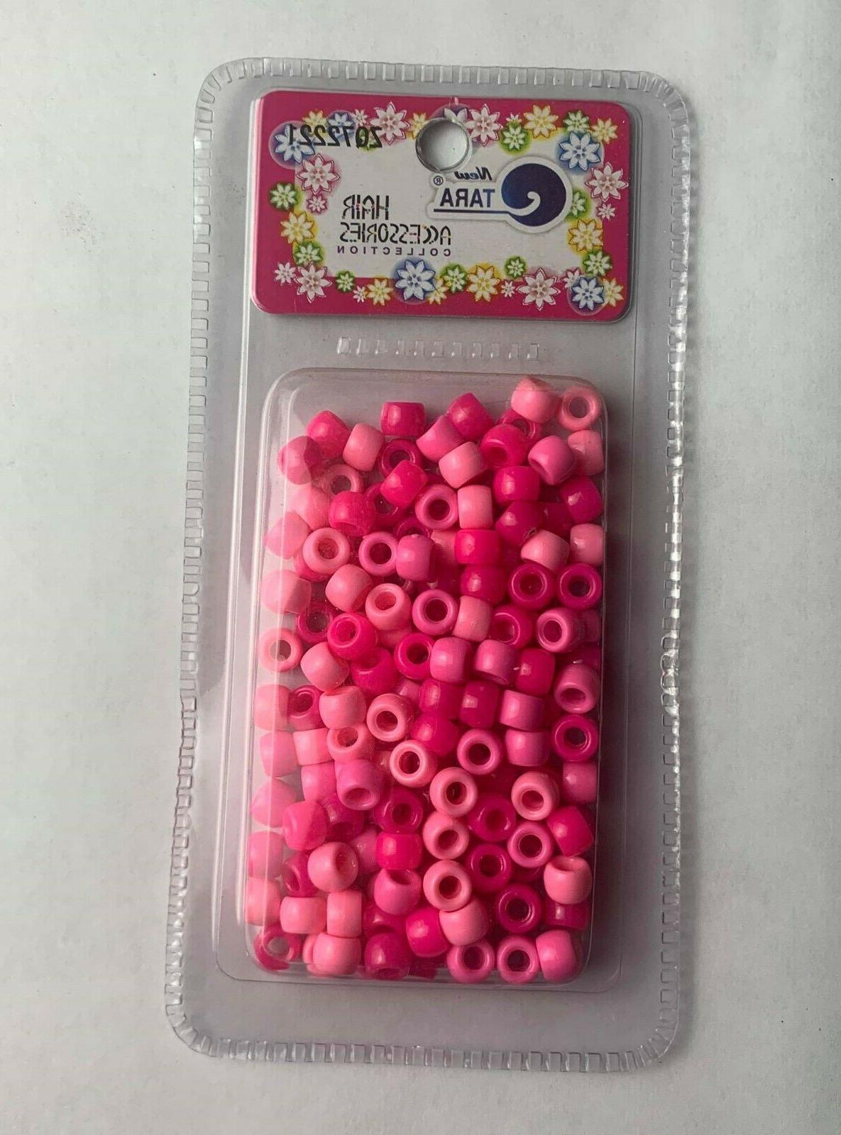 TARA Plastic Hair Beads Braid Ball SEALED 10 PICK YOUR