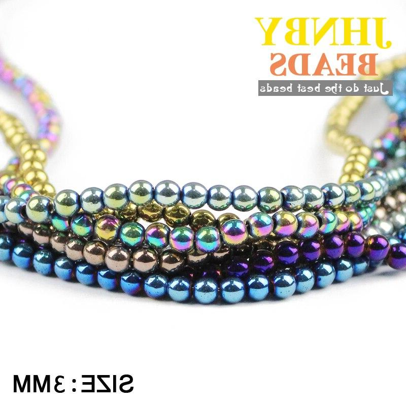 JHNBY Round 3mm Natural Stone ore <font><b>beads</b></font> Making Accessories