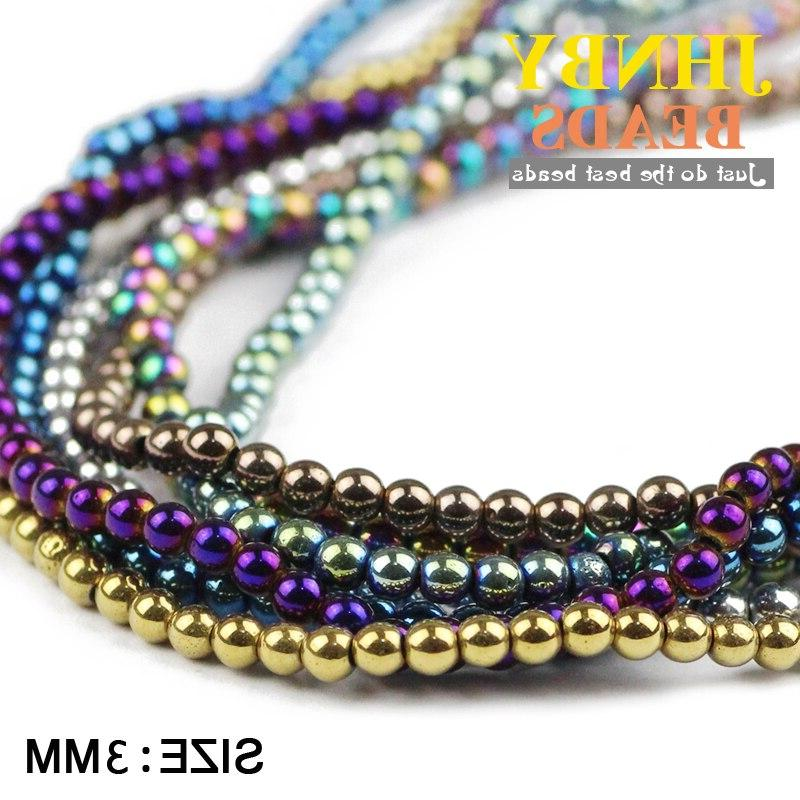 3mm Natural Stone ore color Loose <font><b>beads</b></font> ball bracelet Making Accessories