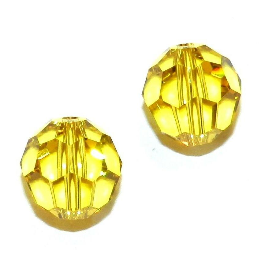 scr6139 lime yellow green 10mm faceted round