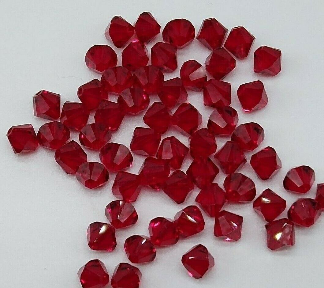 siam bicone 5328 beads 4mm 24pc or