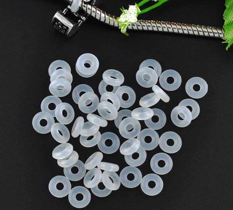 stopper beads rubber charms rings bracelet jewelry