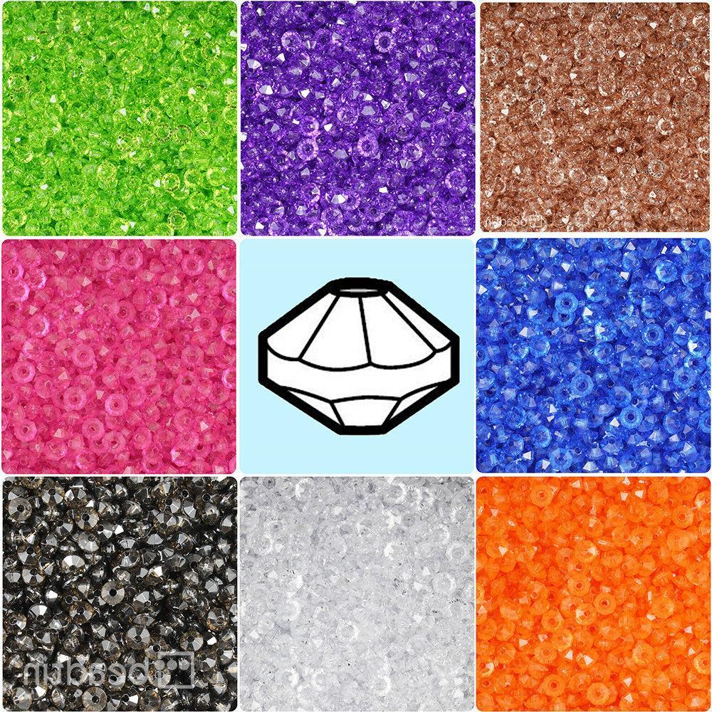 transparent 6mm faceted rondelle plastic craft beads