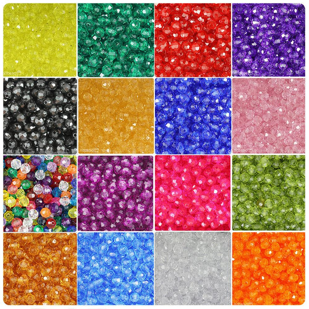 transparent 8mm faceted round craft beads 450pcs