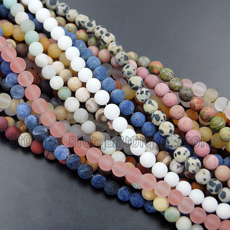 Wholesale Natural Round Spacer Loose Beads 4mm 12mm