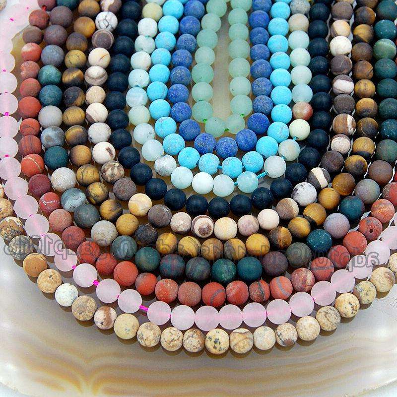 Wholesale Natural Gemstone Round Spacer Beads 4mm 8mm 12mm