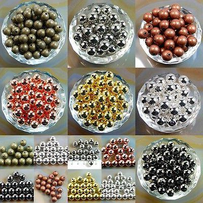wholesale smooth round metal copper spacer beads