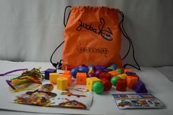 Lacing Beads Kids Toddler Toy Travel Bag Preschool Activitie
