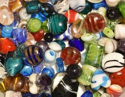 Lampwork Beads, 3 LB  Bulk, Mixed Style & Colors, Handmade G