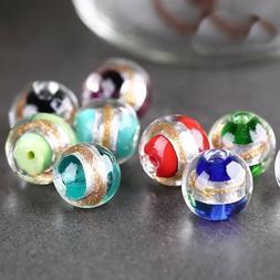 Lampwork Glass Bead 10Pcs Handmade Charm Beads Jewelry Makin