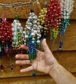 "Large 11"" Beaded Garland Tassels Hanging Home Decor Ornament"