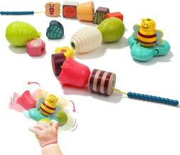 TOP BRIGHT Large Lacing Beads for Toddlers Stringing, Montes