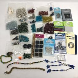 Large Lot Of Jewelry Making Supplies 25 Bags Of Mixed & Asso