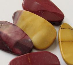 Large Moukaite Beveled Teardrop Focal Pendant Drop Beads - 2