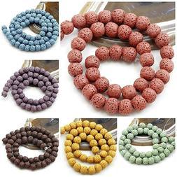 "Lava Bead Rock Round Beads 15"" Wholesale 6mm 8mm 10mm Jewelr"