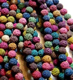 Lava Beads 6mm Stone Essential Oil Multi Colored Scent Bulk