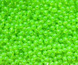 Lime Roe 6mm Round Beads 500pc USA for crafts fishing jewelr