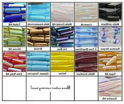 Long Tube Czech Glass Beads 14x4mm 20 Pcs Choose Color