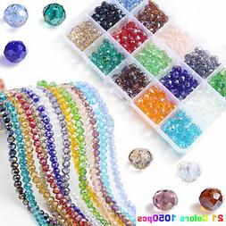 Lot 1050pcs Crystal Czech Glass Bicone Loose Spacer Beads Je