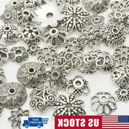 Lot Bulk Mixed Tibet Silver Beads Spacer For Jewelry Making