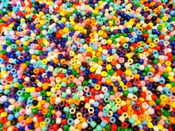 Lot of 1000 Pony Beads 9mm Assorted Colores Art Craft Suppli