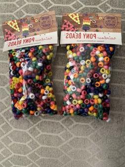 Lot of 1500 Rainbow Pony Beads 9mm Art Craft Supplies Bulk -