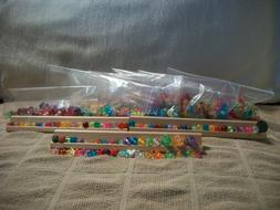 Lot of 1700+ Pc Transparent Pony Beads Various Shapes Sizes