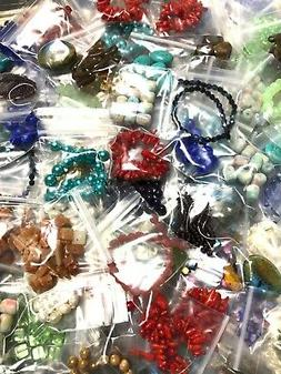 Lot of 25 Bags Assorted Beads Glass Metal Acrylic Jewelry Ma