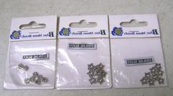 Lot of 3 Blue Moon Beads Sterling Silver Small Star Spacers