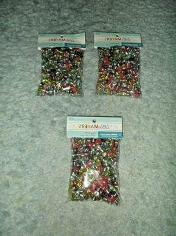 LOT OF 3 NIP LITTLE MAKERS MULTI-COLOR VARIGATED PONY BEADS