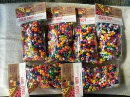 Lot of 4500 Rainbow Pony Beads 9mm Art Craft Supplies Bulk -