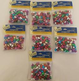 Lot of 700 Darice Assorted Metallic Heart Shaped Plastic Pon