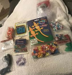 Lot of Pony Beads Assorted Colors Mixed Wood Letters Plastic